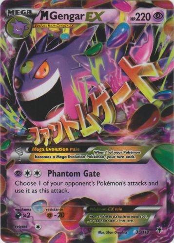 Pokemon-Mega Gengar EX-XY Phantom Kräfte Karte # 35/119(selten holo-foil, M) (Mega Seltene Pokemon Karten)