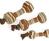 Karlie SENIOR DOG TOY Hantel mit Seil, Spielzeug fr Hunde und Katzen