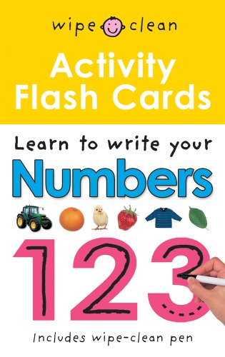 Activity Flash Cards 123 (Wipe-Clean)