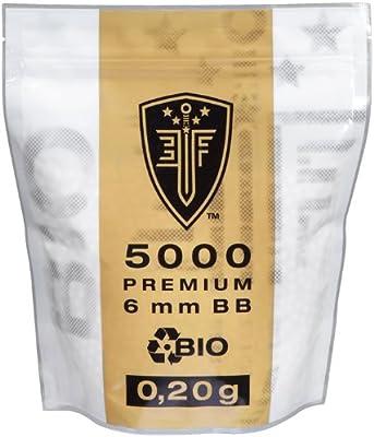 Elite Force - Munición de airsoft (ecológica, 0,20 g, 5000 unidades)