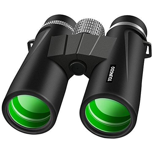 YOUNGDO 10 x 42 Prismáticos Profesionales IP68 10m Impermeable BAK4 Techo Prisma Fogproof Binoculares HD para Observación de Aves Viajes Stargazing Caza Conciertos Deportes (Prismáticos 10 x 42)