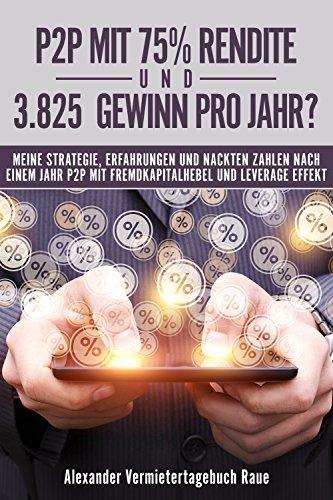 P2P mit 75% Rendite und 3.825€ Gewinn pro Jahr?: Meine Strategie, Erfahrungen und nackte Zahlen nach einem Jahr P2P mit Fremdkapitalhebel und Leverage-Effekt