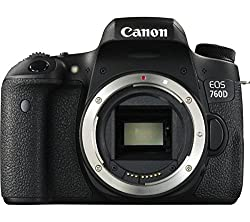 Canon EOS 760D 24.2MP Digital SLR Camera (Black) with Body only, Memory card, Camera Bag
