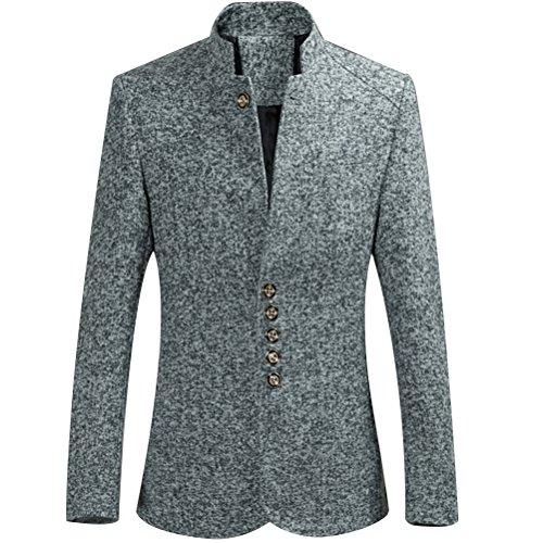 Zhuhaitf la mode masculine Mens Formal Dinner Single Breasted Blazer Sizes XL,XXL,XXXL,4XL,5XL,6XL gray