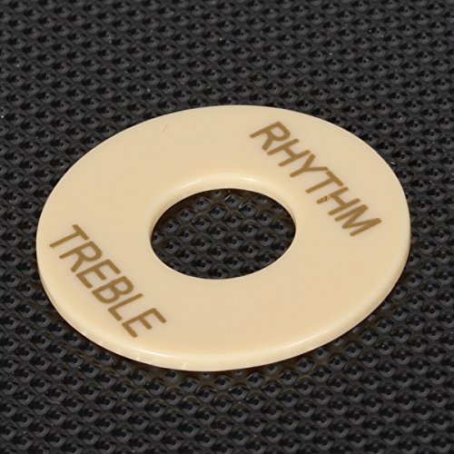 Sharplace 2X Musiclily Plastic Pickup Wahl Plates Toggle Marker Schalten Waschmaschine Treble Rhythm Ring für Les Paul Gitarre Cream (Toggle-schalter)