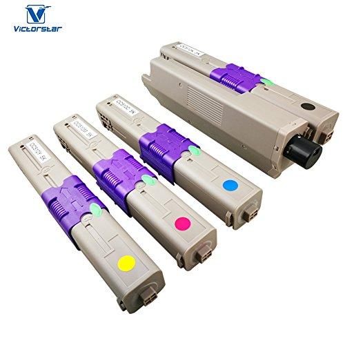 Kompatible Tonerpatrone C510 C530 C531 MC561 MC562 Serie 4 Farben (BK + C + Y + M) VICTORSTAR 5000 Seiten für BK / C / M / Y für OKI C510 C510dn C511 C511dn C530 C530dn C531 C531dn MC561 MC561dn MC562 MC562dn MC562dnw MC562w