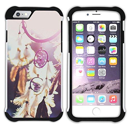 Graphic4You Traumfänger Indisch Einheimisch Hart + Weiche Kratzfeste Hülle Case Schale Tasche Schutzhülle für Apple iPhone 6 Plus / 6S Plus Design #5