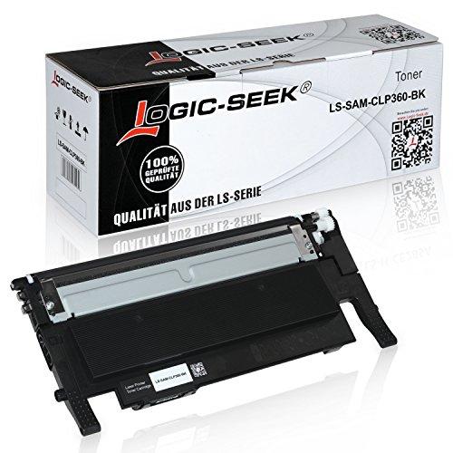 Toner für Samsung CLP- 360 / 365 schwarz mit Chip-Schwarz, 1.500 Seiten,...
