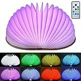 Olycism 360°Faltbar LED Buch lampe in Buch Form mit 2000 mAh Akku Lithium Nachttischlampe Nachtlicht dekorative Lampen w