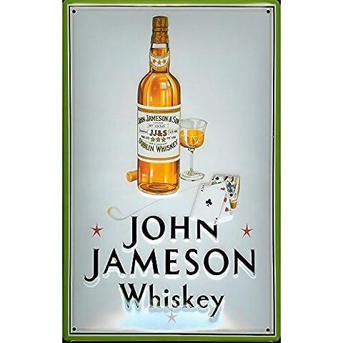 John Jameson Irish Whiskey Drink Bar Pub Man Cave 3D Medium Metal/Steel Wall Sign
