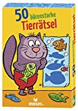 moses. 30242 50 bärenstarke Tierrätsel | Kinderbeschäftigung | Kartenset, Mehrfarbig
