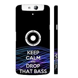 Enthopia Designer Hardshell Case Drop That Bass Back Cover for Oppo N1 Mini