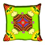 meSleep Ethnic Design Digital Printed Cushion Cover 16x16 best price on Amazon @ Rs. 199