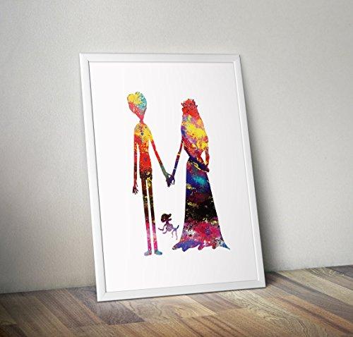 Leichenbraut inspiriert Poster - Victor Van Dort Aquarell Print - Alternative TV/Movie Prints in verschiedenen Größen (Rahmen nicht im Lieferumfang enthalten)