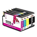 Mony Kompatibel HP 932XL 933XL Druckerpatronen (1 Schwarz, 1 Blau, 1 Magenta, 1 Gelb) für HP Officejet 6600 6700 7610 7612 7110 6100 Drucker