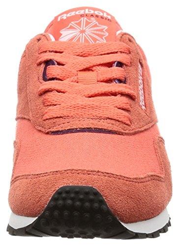 Reebok Cl Nylon Slim Hv, Sneakers Femme Rouge (Fire Fire Coral/red/white/purple)