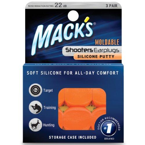 Mack \'s Shooters formbare Silikon Putty Ohrstöpsel, orange, 3Paar
