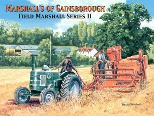 trevor-mitchell-marshalls-of-gainsborough-field-marshall-series-ii-2-green-tractor-red-harvester-in-