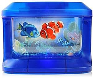 kinder aquarium mit led lampen und fischen haustier. Black Bedroom Furniture Sets. Home Design Ideas