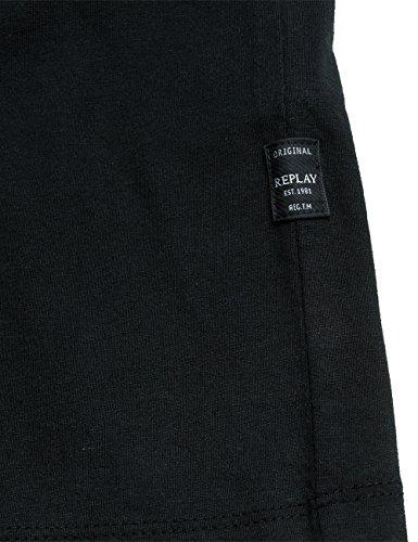 Replay Herren T-Shirt Schwarz (Black 98)