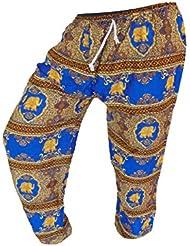 by soljo - Pantalon pantalons de loisirs sportifs pantalon Elephant bleu or