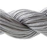 Présentoirs pour Bijoux Nylonband/Schmuckband, 30m, 1mm für tibetische Shamballa-Armbänder, Grau