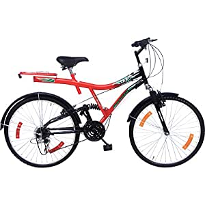 Hero Team 26T Single Speed(Dual suspension) Sprint Bike  20-inches (Red & Black)