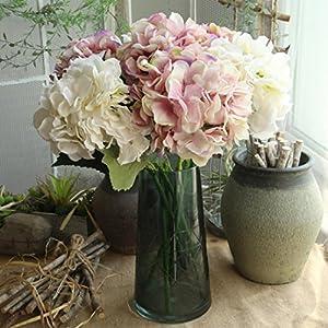 Sansee Ramo de flores artificiales de seda para novia, decoración del hogar, decoración de bodas, flores de peonía