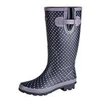 Ladies Wide Fitting Leg Rubber Wellington Boots