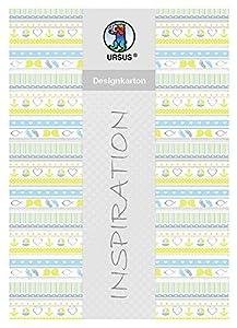 Ursus 62364602F Diseño de cartón, mi Bautizo, niño, 200g/m2, DIN A4, 25Hojas, diseño 2