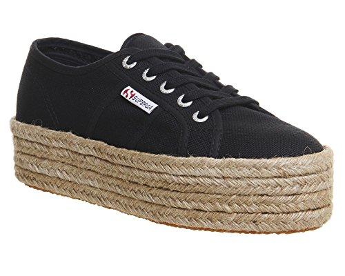 Superga 2790-Cotropew, Sneaker a Collo Basso Donna Black