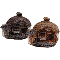 aihome Miniature Fairy Garden Stone House–Mini Fata Casetta per giardino e patio–Accessori per decorazione casa decorazione per esterni, Resina, 6
