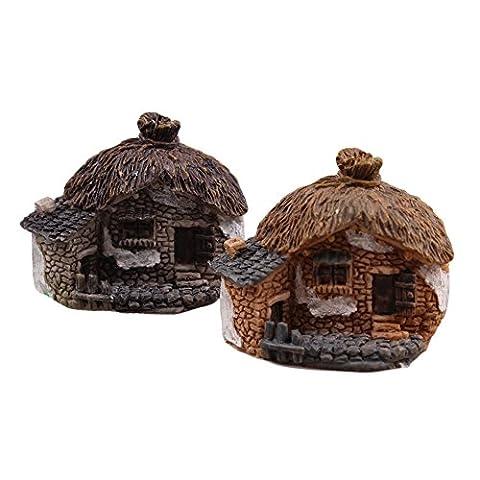 aihome Jardin Féérique miniature Pierre House–Mini Fairy Cottage–Accessoires pour la maison décoration d'extérieur Décoration pour jardin et patio Maison Décoration, 6