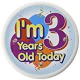 I'm 3 Years Old Today Flashing Button Ca...