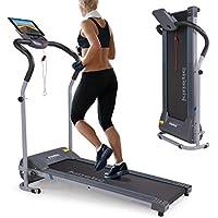 Preisvergleich für Kinetic Sports Laufband 500 Watt leiser Elektromotor, bis 120 kg, Geh- und Lauftraining, Tablethalterung, stufenlos einstellbar bis 10 km/h, klappbar