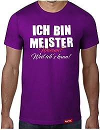 6e7a0adc80990 Ich bin Meister - Warum? Weil ich´s kann! // Original Hariz® T-Shirt -  Sechzehn Farben, XS-4XXL // Beruf   Prüfung   KFZ…