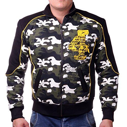Camouflage design Giacca imbottita, da uomo in 100% cotone Grün Camouflage Large