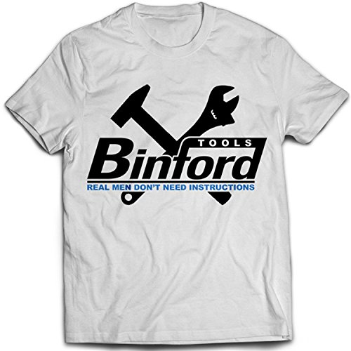 9043w Binford Tools Herren T-Shirt Home Improvement TV Comedy Weiß
