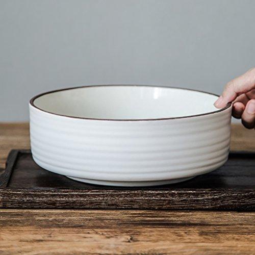 Yxsd Vaisselle en céramique à la Maison Simple Bol de Soupe de Bol de Ramen personnalité créatrice, 8,5 Pouces