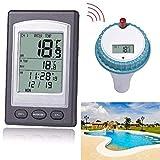 Liqiqi Digitales Schwimmthermometer, kabellos, mit Fernbedienung, wasserdicht, für Schwimmbad, Whirlpool, Teich, Spa