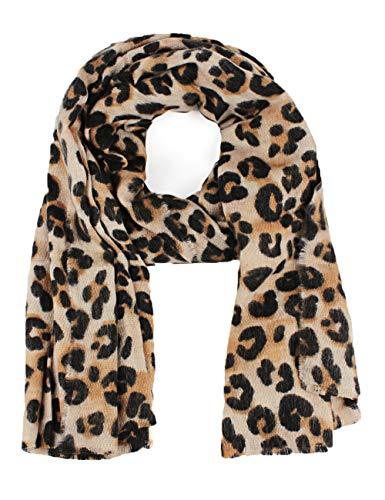 T.Mullen Mujer leopardo Invierno Bufanda Chal Sobredimensionado Bufandas (11713, talla única)