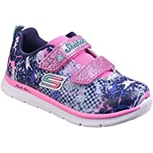 e8fcbef86dd5f Skechers Girls Skech Lite - Flexies Sporty Colourful Textile Trainers
