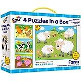 Galt Toys Farm 4 Puzzles in a Box