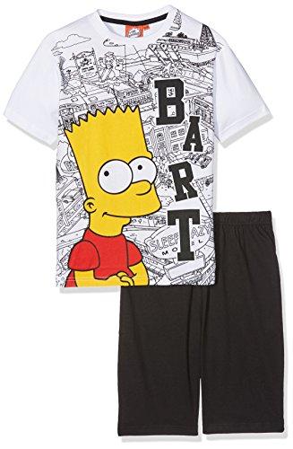 the-simpsons-smcl27404-ensemble-de-pyjama-garcon-noir-white-black-10-ans-taille-fabricant-10-ans
