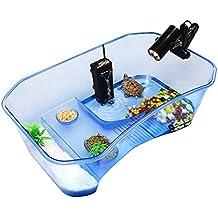 Zantec Caja para mantener la tortuga, Reptile Turtle Tortoise Vivarium Box Tanque de acuario con