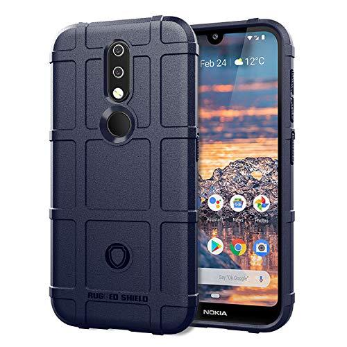 XunEda Nokia 4.2 Cover Custodia, Scudi Serie Custodia in Silicone TPU Protettiva Antiurto Case Cover per Nokia 4.2 Smartphone(Blu)
