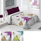 Edredón Conforter Modelo Golondrina, Color MORADO (C/02), Medida Cama de 150 · 250x260cm