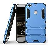 """Letv X500 Le1S 5.5"""" Funda Carcasa Case, Ougger(TM) Protector Extrema Absorción de Impacto [Kickstand] Piel Armor Cover Duro Plástico + Suave TPU Ligero Rubber 2in1 Back Gear Rear Azul"""