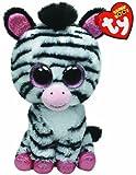 TY 36717 - Izzy - Zebra mit Glitzeraugen, rosa glitzernde Ohren und Füße, 15 cm