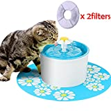 Leegoal TM Pet Water Fountains,Cat Dog Water Fountain Pet Water Dispenser,Automatic Healthy pet drinking fountain for Cats Dogs Animal with 2 Filters,1.6L